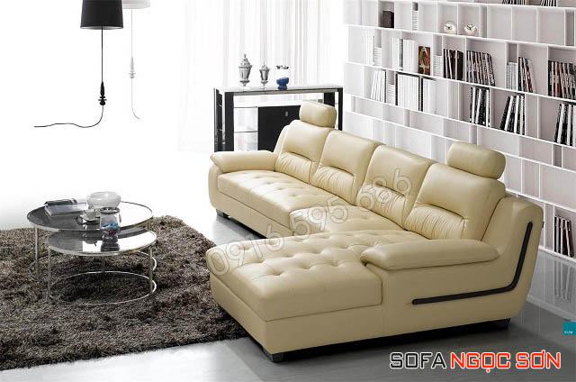 Những mẫu ghế sofa phòng khách đẹp sang trọng từ chất liệu da