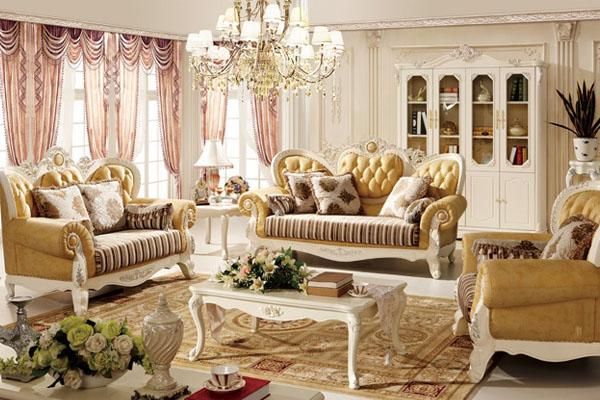 Sofa phòng khách cao cấp tân cổ điển lộng lẫy như một nữ hoàng