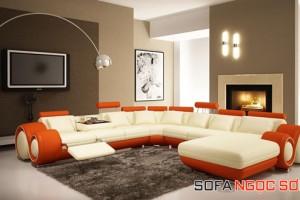 Phần đệm ngồi khác màu tạo nên sự mới lạ, thú vị cho căn phòng.