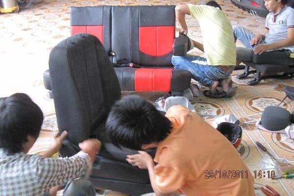 Giá bọc ghế xe khách của sofa Ngọc Sơn