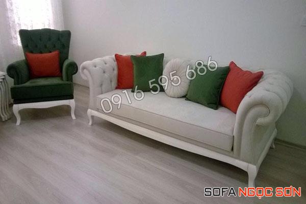 Bọc ghế sofa bằng da thật