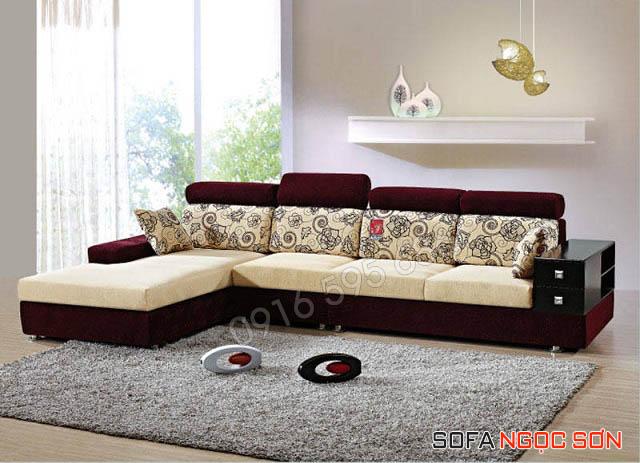 Ưu điểm về kiểu dáng sofa vải nhung