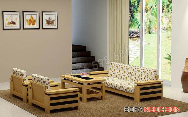 Mẫu ghế sofa gỗ đẹp hiện đại