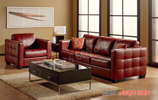 Sofa da Ngọc Sơn có mức giá rẻ cạnh tranh nhất thị trường.