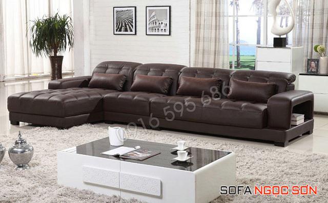 Mua Sofa da phòng khách đẹp giá rẻ ở đâu tại Hà Nội