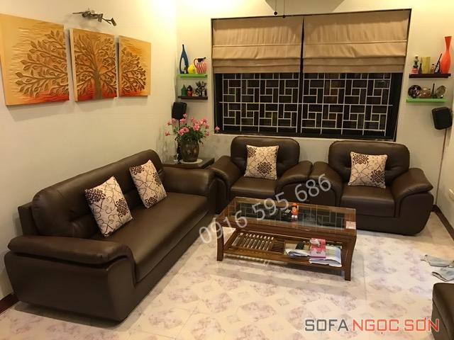 Sofa Ngọc Sơn địa chỉ bọc ghế da chất lượng giá rẻ tại Hà Nội