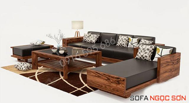 Những mẫu ghế sofa phòng khách khung gỗ nệm mang vẻ đẹp bề thế
