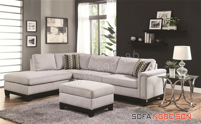 Sofa nỉ không chỉ đẹp mà còn rất êm và mịn