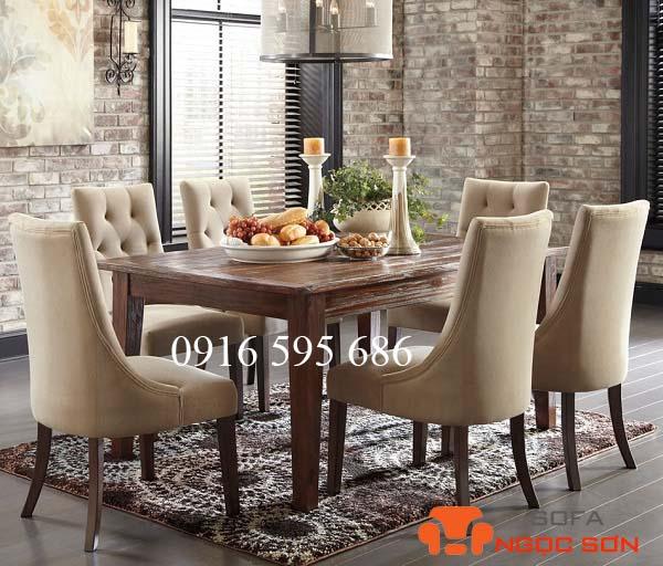Bọc ghế bàn ăn bằng nỉ