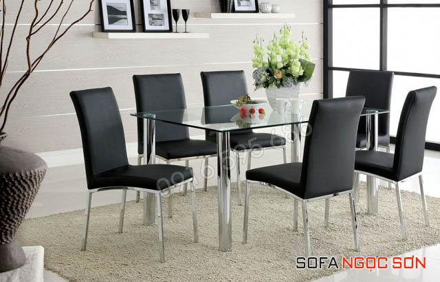 Bọc ghế da bàn ăn