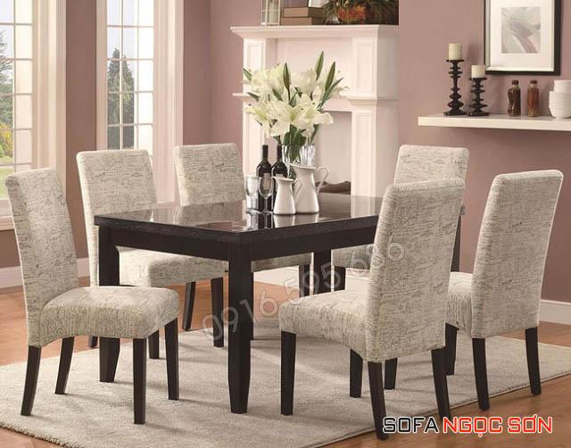 Các loại chất liệu bọc ghế nệm ghế bàn ăn