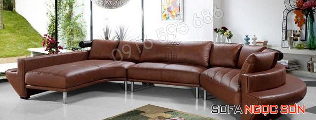 Sofa da bò thật Ngọc Sơn