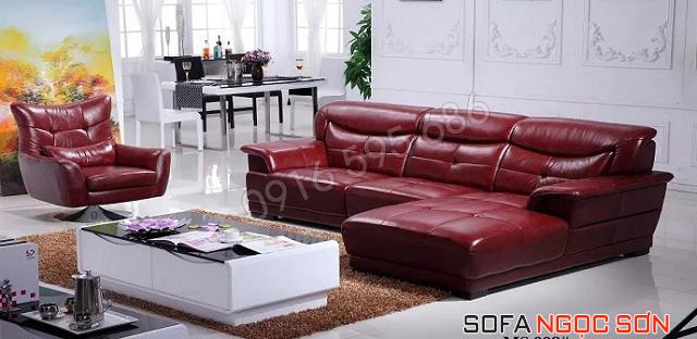 Những mẫu sofa da phòng khách hiện đại đẹp của Ngọc Sơn