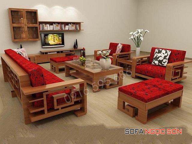 Những mẫu sofa gỗ chữa L đẹp lung linh, địa chỉ bán sofa gỗ tại Hà Nội