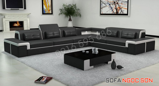 Mẫu ghế sofa da đẹp hiện đại, sang trọng