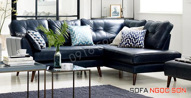 Mẫu ghế sofa da đẹp hiện đại, trẻ trung