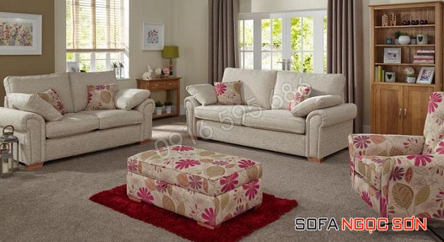 Sofa nỉ đẹp nhiều mầu sắc, họa tiết