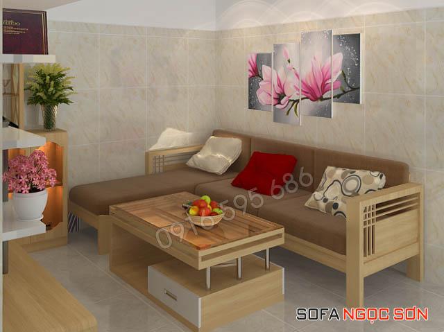 Sofa Ngọc Sơn bán ghế sofa chữ I bằng gỗ